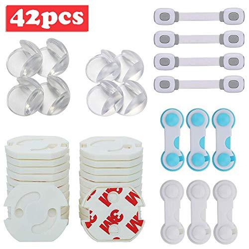 lenbest 42 Piezas Kit de Seguridad para Bebés, Kit Seguridad Bebé, (4...