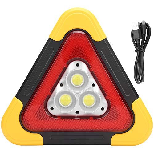 Señal de Advertencia Triangular Señal Triangular LED Luz de Trabajo Lámpara de Emergencia Señal de Advertencia Reflectante de Seguridad de avería de Coche Plegable