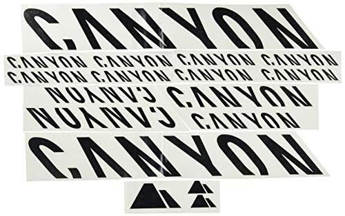 Ecoshirt KS-PGLB-G01E Aufkleber Canyon F157 Vinyl Decal Sticker Decal Decal Decal Sticker MTB Bike schwarz