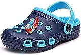 Gaatpot Zuecos y Mules Niños Respirable Zapatos de Jardín Niña Sandalias de Playa Verano Antideslizante Zapatos de Playa Azul(Navy) 34 EU / 35CN