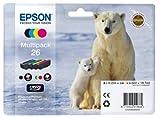 Encre d'origine EPSON Multipack Ours polaire T2616 : cartouches Noir, Cyan, Magenta,...