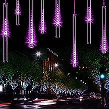 Lwind Meteor Shower Rain Lights,Ultra Bright Romantic Lights for Party, Wedding, Christmas, etc.11.8inch 8 Tubes(Purple)