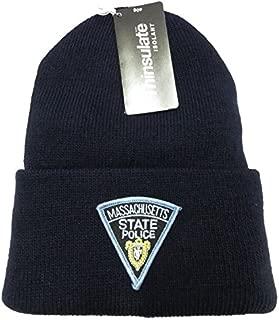 Massachusetts State Police Knit Cap - 40 Gram Thinsulate Insulation - Navy Blue Hat