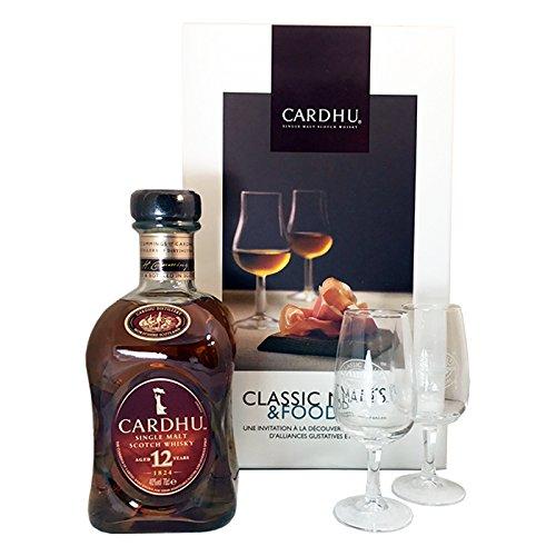 Whisky Cardhu 12 ans coffret malt & Food single malt du Speyside