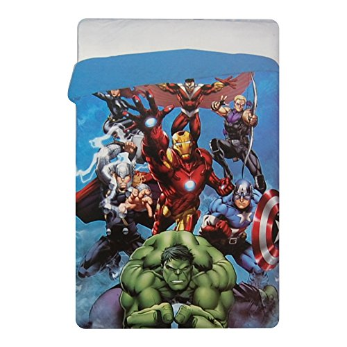 Trapunta Invernale Marvel Avengers Piumone 180x260cm Imbottitura 320gr/mq Supereroi Iron Man Capitan...