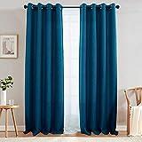 Con aislamiento térmico cortinas de oscurecimiento de habitación para recámara, un Panel, Casual, azul Denim, 84|Panel, 1