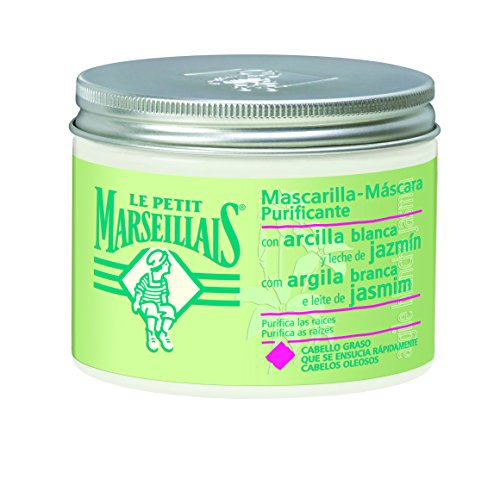 Le Petit Marseillais Mascarilla Arcilla Blanca y Leche de Jazmín para Cabello Graso - 300 ml