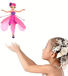 Joyce Fairy Doll Girl 6 Years Old, Infrared Sensor Control Remote Control Helicopter Child Toy Teen Toy Ballet Girl Flying Princess Doll (Flying Fairy)