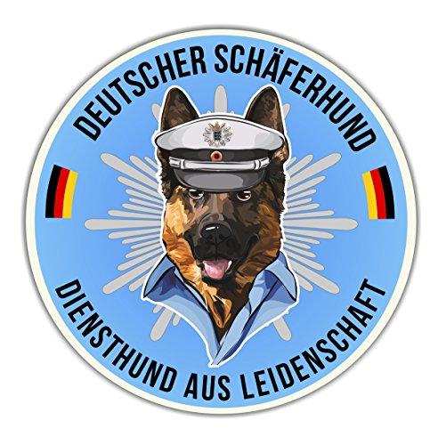 Siviwonder Auto Aufkleber Polizei Deutscher Schäferhund Shepherd Hundeaufkleber K9 Reflex autoaufkleber Hund Folie Hundemotiv
