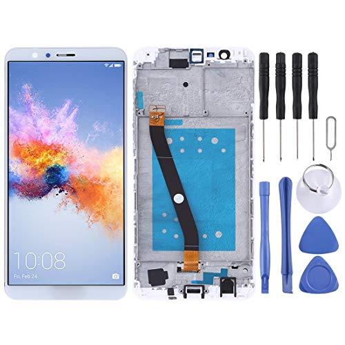 JUNXI Phone Schermo LCD e digitalizzatore Assemblaggio Completo con Cornice for Huawei Honor 7X (Nero) di Alta qualità (Colore : Bianca)