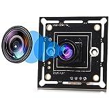 1 MP Wide Angle usb Webcam Super Mini Camera Board Module 720P 120 Degree Webcam 1/4' CMOS OV9712 Sensor USB with Camera, Web Camera Support Most OS,UVC Compliant Web Cams,Plug&Play USB2.0 Web Cameras