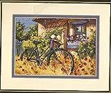 Schöne Schöner Kreuzstich Kit Fahrrad Nachmittag Fahrrad Blumen-Haus-Herbst Handgemachte Kreuzstich (Cross Stitch Fabric CT number : 14CT unprint canvas)