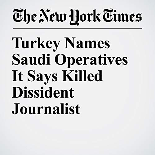 Turkey Names Saudi Operatives It Says Killed Dissident Journalist audiobook cover art