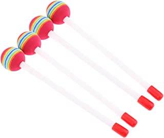 MagiDeal Hand Percussion Baby Educational Developing Toy Lollipop Drumsticks Drum Mallets 4Pcs