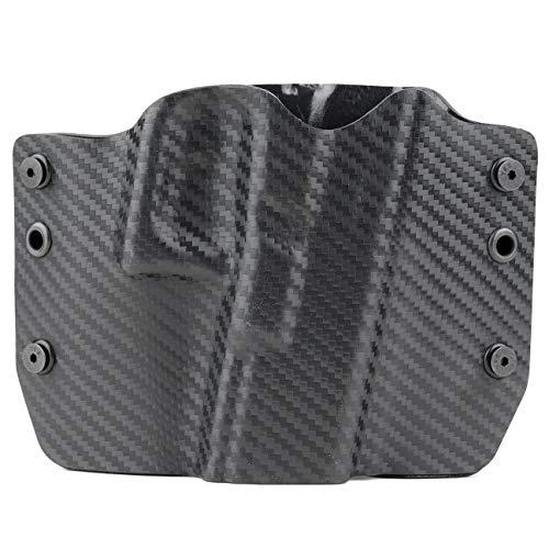 Black Carbon Fiber OWB Holster (Right-Hand, for HK USP Compact - 9/40)