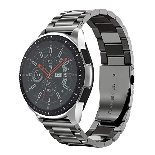 NotoCity Stainless Steel Metal 18mm Quick Release Watch Band for HUAWEI Watch / Whithings Activite / Steel / Pop Watch,GarminActive S,Replacement Watch Strap for Mens Womens Sport Watchbands-black