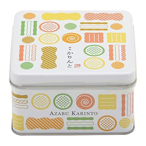 【麻布かりんと】 吹寄せかりんとミニ缶 (1缶 国産もち米あられ1個セット)