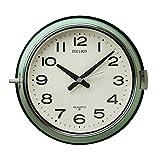 セイコー クロック 掛け時計 アナログ 防塵型 オフィスタイプ 金属枠 薄緑 KS474M SEIKO