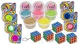 KSS Neu Großes Geburtstags-Set 5 X Magischer Wurm + 5 X Zauber Sand + 5 X Zauberwürfel Mitbringsel Mitgebsel Kindergeburtstag Tombola Verlosung 15 Teilig !