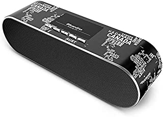 BLUEDIO AS Mini Portable Wireless Bluetooth 4.1 WIFI Speaker Dual Bass Radiator 3D Stereo Black