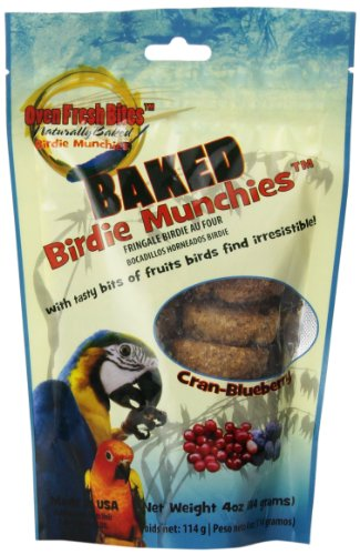 Oven Fresh Bites Birdie Munchies Pet Treat, Cran-Blueberry, 4-Ounce