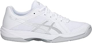 Women's Gel-Tactic 2 Volleyball Shoes, 11M, White/Silver