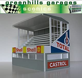 Greenhills Scalextric Slot Car Building Reims Grandstand Kit 1:43 Scale