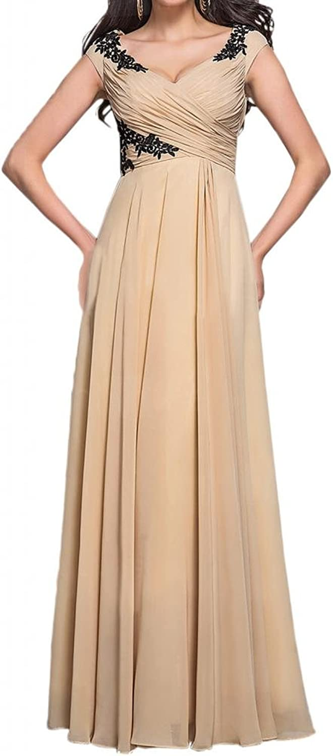 Angel Bride Sleeves Floor Length Appliques Mother of the bride Evening Dresses