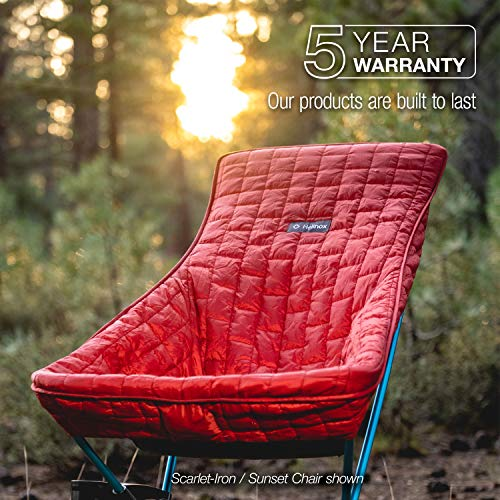 Helinox Seat Warmer   Packable Insulation Made from 100% Recycled Materials, designed to fit Sunset and Beach Chair. (Sunset, Beach - Black)