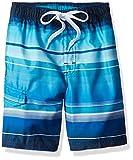Kanu Surf Boys' Big Reflection Quick Dry UPF 50+ Beach Swim Trunk, Horizon Navy, 14/16