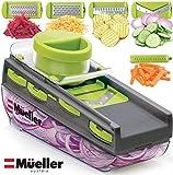 8. Mueller Mandoline Slicer, Premium Quality V-Pro Five Blade Adjustable Vegetable Slicer, Cutter, Shredder BPA-Free Veggie Slicers for Fruits and Vegetables