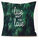 dingjiakemao Quote Live What You Love Be Kind Even On Your Bad Days Cotton Linen Throw Pillow Case Cushion Cover Home Sofa Decorative 18X18Inches/45X45cm