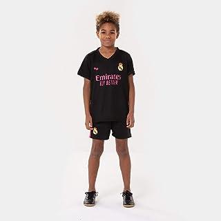 Morefootballs - Offizielles Real Madrid Alternatives Trikot Set für Kinder - 2020/2021 - Vollständiges Tenue mit Trikot und kurzer Hose - Fussball Shirt und Shorts Schwarz