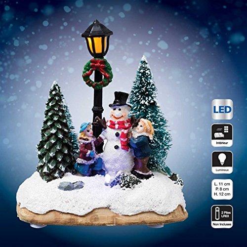Pueblo de Navidad luminoso Personaje de fiesta
