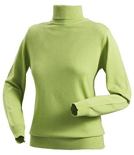 Royal Spencer Damen Rollkragen-Pullover aus Kaschmir-Seide, Kaschmir-Pullover in Grün, kuscheliger Winterpullover, feines Naturprodukt, Gr: S - XL