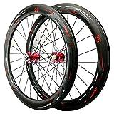 TYXTYX Juego de Ruedas de Carretera de Carbono para Bicicleta 700C Juego de Ruedas de Ciclismo Mate Llanta de Carbono para Bicicleta 40/50/55 mm Rueda de Cubierta C/V-Brake Buje de rodamiento Sel