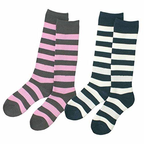 スキーソックス キッズ 女の子 遠赤加工 靴下 2足組 冬 スポーツソックス SP348 2色込 17〜20cm