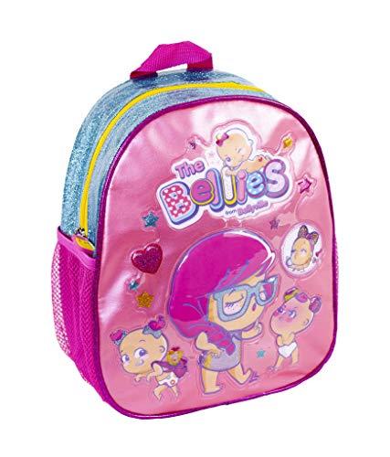 The Bellies from Bellyville - Mochila para guardería Infantil, para niños a Partir de 2 años, Color Rosa (Famosa 700015954)