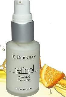Retinol Vitamin C Face Serum 1 Oz. - with Hyaluronic Acid & Aloe - Anti Wrinkle Reducer - Smooth Fine Lines & Restore Collagen