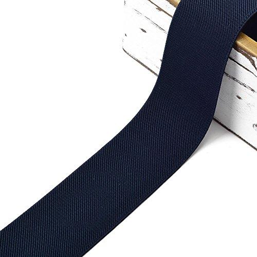 4-Yards 2-inch (50mm) Twill Elastic Band Trim, Waistband Elastic, Elastic Trim, Elastic Ribbon, TR-11831 (Navy)