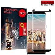 Galaxy S8 Plus Panzerglas Schutzfolie,Qechen 3D Hohe Qualität Gehärteter Displayschutzfolie [Anti Fingerabdruck] [Anti-Kratzen] [Blasenfrei] [HD klar] Gehärtetes Glas 3D Displayschutzfolie für Samsung Galaxy S8 Plus