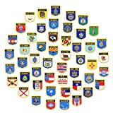 OYSTERBOY Set of 51pcs USA US American 50 States Flag + Washing D.C. Embroidered Iron-on/Sew-on Decorative Patch