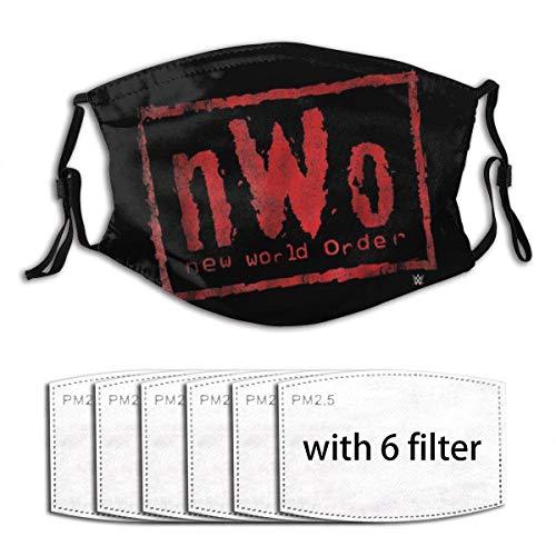 Mundschutz NWO Neue Weltordnung W-WE Wrestling (1) Gesichtsdekorationen Bandana Schal Wiederverwendbare Mundohrschlaufen Kinder Kinder Jungen Mädchen