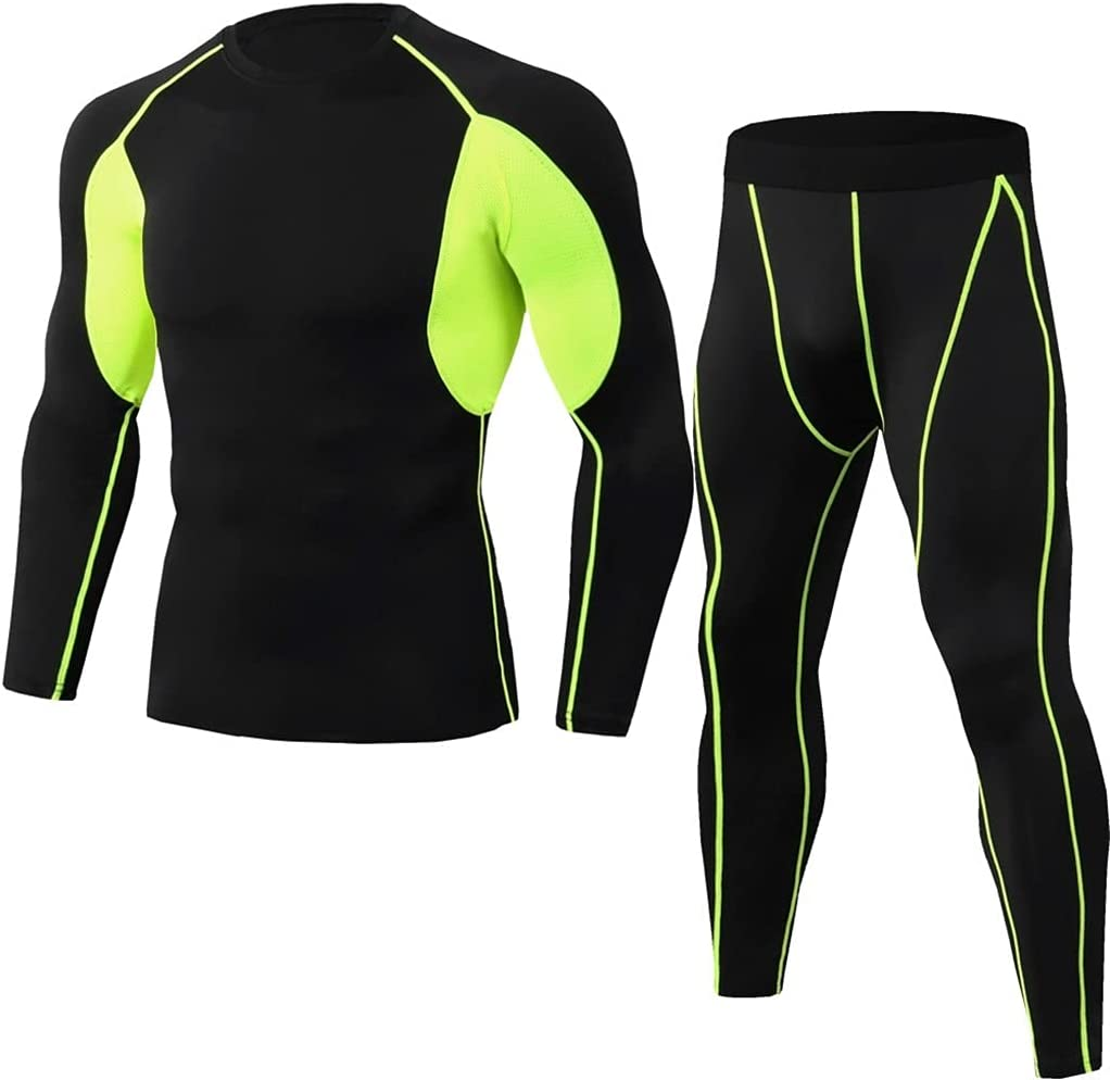 ZYKBB Winter MenThermal Underwear Comfortable and Breathable Basic Layer Thermal Underwear Sports (Color : E, Size : M code)