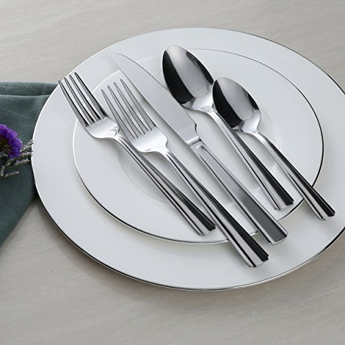 Silverware Set 20 Pieces Flatware Set with Fork Knife and Spoon Service for 4 by KITCHENTREND