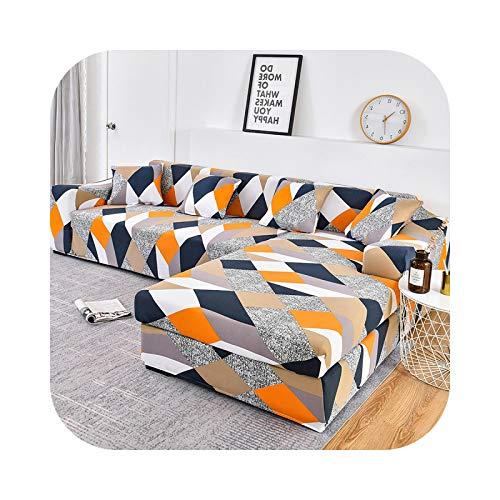 Sofa Covers - Funda de sofá elástica, funda de sofá de algodón para adaptarse al sofá esquinero 11 – 4 seater 235 – 300 cm