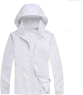 HANMAX Damen Kapuzen Windbreaker Sommer Outdoor UV Sonnenschutz Jacke