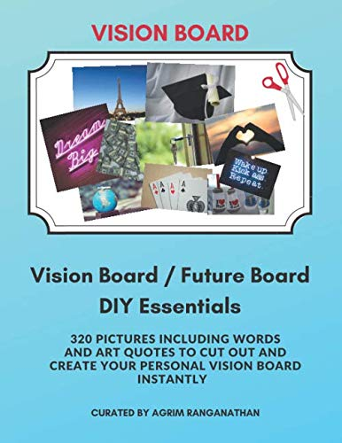 Future Board DIY Essentials: Images, Words and Art Quotes to Manifest Your Dreams and Desires | Law of Attraction Tool Kit (Vision Board Supplies 2021 for Goal Visualization)