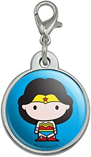 GRAPHICS & MORE Wonder Woman Cute Chibi Character Chrome Plated Metal Pet Dog Cat ID Tag