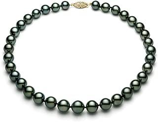 """Nouveau 8-9 mm Tahiti naturelle Noir Collier De Perles 18/"""" AA"""